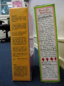 Cereal Box Book Report Template cereal box project examples ms kelly sr elementary
