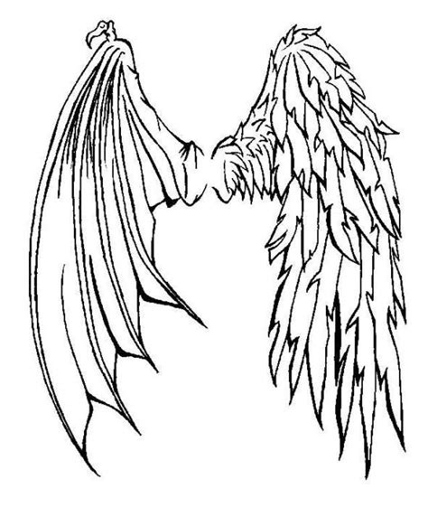 tattoo wings angel devil half angel half demon wings tattoo tattoos pinterest