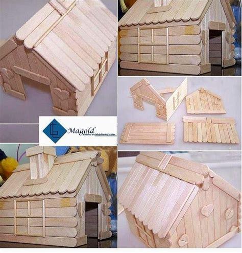 imagenes de casitas con palitos de helados casitas hechas con palitos de madera ben blog