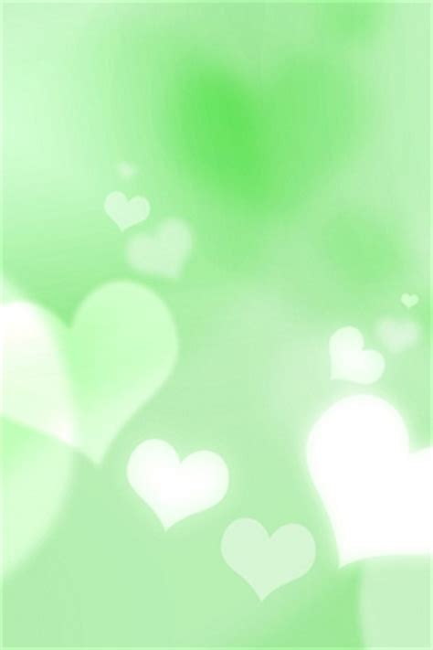 green wallpaper with hearts wallpaper of green hearts for iphone