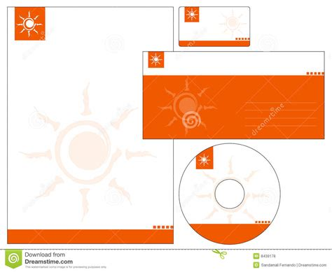 free download stationary layout design vector letterhead template design vector stock vector