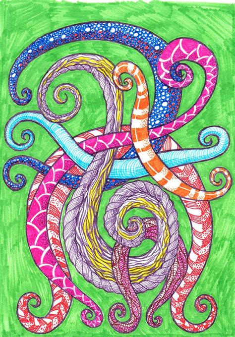 how to create worm in doodle colour doodle worms week 31 zentangle 2014