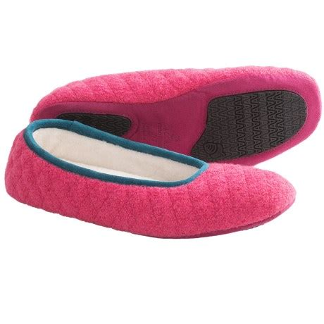 Quilted Slippers by Acorn Quilted Ballerina Slippers For 5983u Save 58