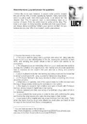 Lucy Film Worksheet | english worksheets lucy movie activity intermediate