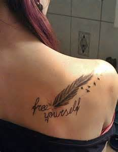 Feather shoulder tattoos for womenhelenasaurus