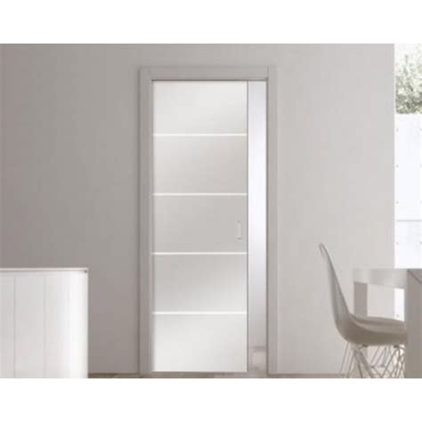 eclisse glass sliding pocket door system single door kit supplied with patterned glass door