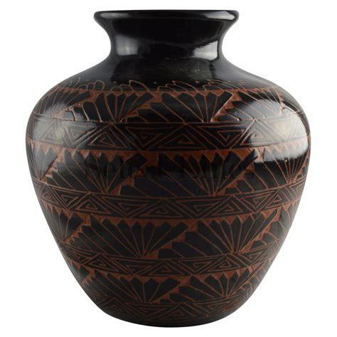 Vase Pot by Large Glazed Navajo Vase Pot By Artist Priscilla Benally