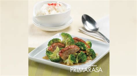 Wajan Prima Cook resep tumis bebek panggang brokoli