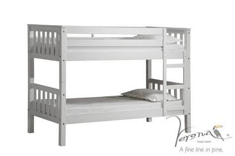 Shorty Bunk Beds White Barcelona Shorty Bunkbed With 2 Mattress