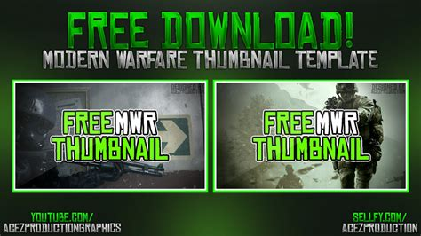 modern warfare remastered youtube thumbnail template p