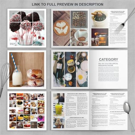 indesign recipe template photoshop cookbook template for families chefs and