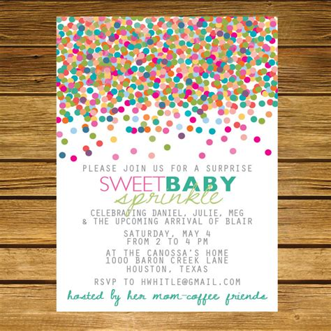 2nd baby shower ideas sprinkle second baby shower invitation pink by