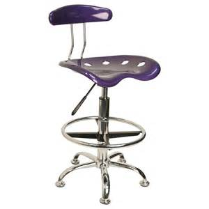 drafting bar stool vibrant violet and chrome bar stool height drafting stool