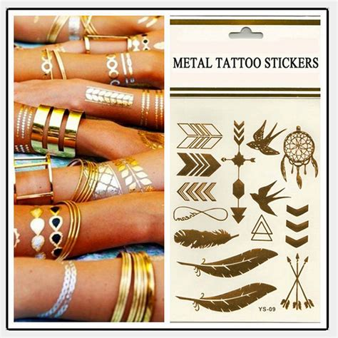 flash tattoos aliexpress 3 pcs body art chain gold tattoo temporary tattoo tatoo