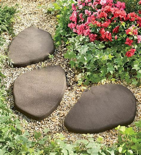 rubber stepping stones    nice   side