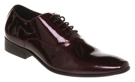 mens office astaire dress shoe burgundy patent shoes