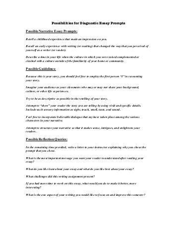 Diagnostic Essay by Diagnostic Essay Exles Docoments Ojazlink