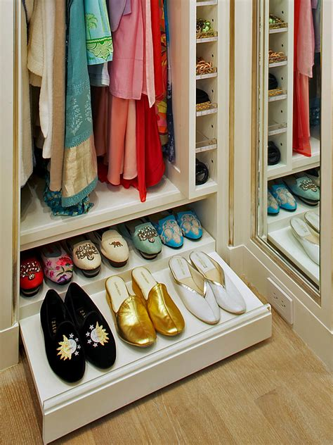 Pull Out Drawer Shoe Rack by Shoe Storage Cabinet Options Hgtv