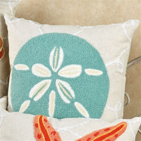 beach inspired throw pillows sunroom design images washed ashore beach themed decorative pillows