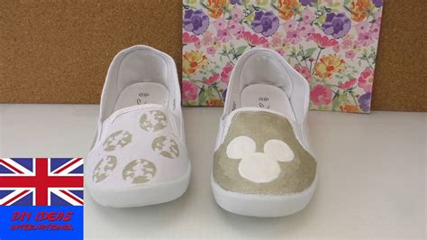 diy decorate shoes diy shoes makeover decorate your shoes with mickey
