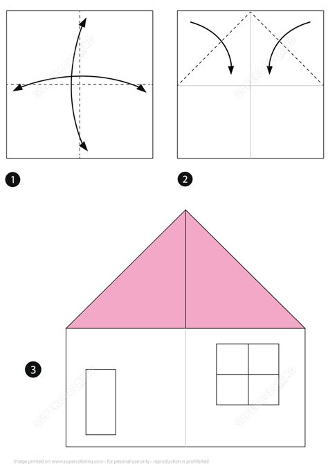 origami house instructions  printable papercraft templates