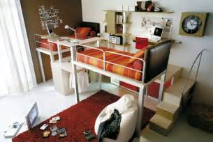 lofted space saving furniture for bedroom interiors