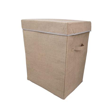 folding laundry buyhessian folding laundry basket box from the basket company