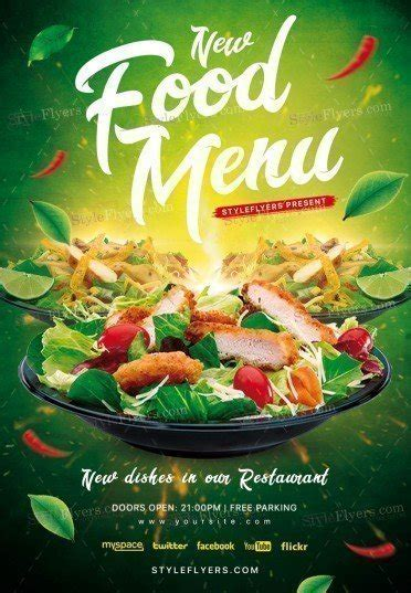 Food Menu Psd Flyer Template 21197 Styleflyers Food Flyers Templates