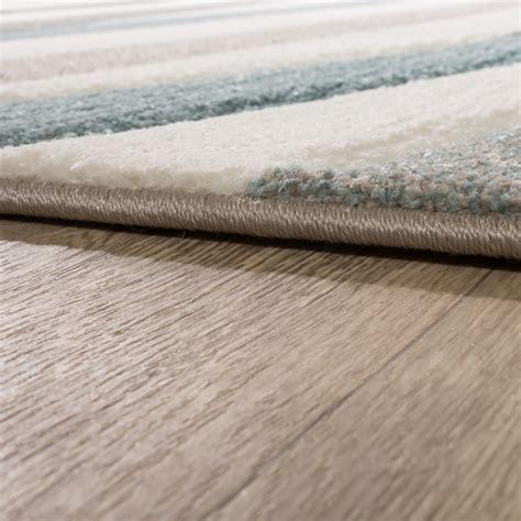 teppich pastell designer rug modern contour cut pastel colours striped