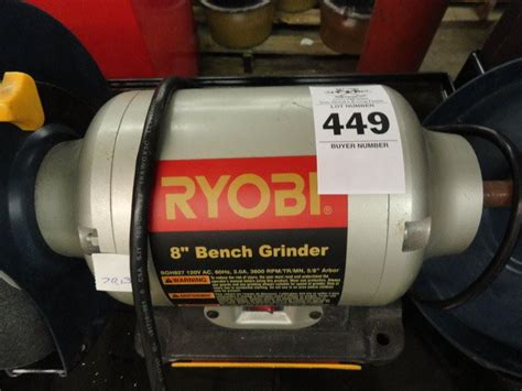 ryobi bench grinder 8 inch ryobi 8 quot bench grinder