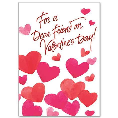 valentines greetings to my for a dear friend on valentines day s day card