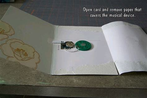 make your own musical card repurposed musical card favecrafts
