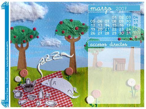 Calendario Marzo 2007 My Day Calendario Tapiz Marzo 2007
