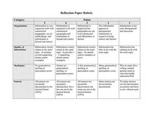 Critical Reflection Essay Rubric by Rubric For Reflection Paper Search Small Counseling Search Paper
