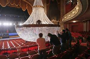 theater chandelier photos pabst theater chandelier gets a