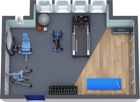 layout home gym roomsketcher home gym floor plan home gym pinterest