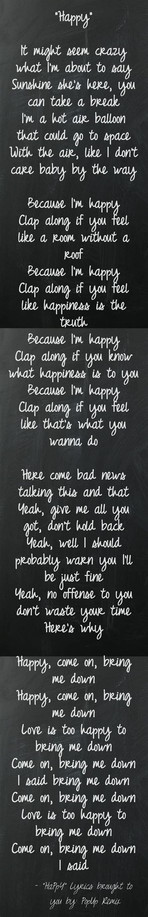 happy lyrics pharrell williams happy quotes quotesgram