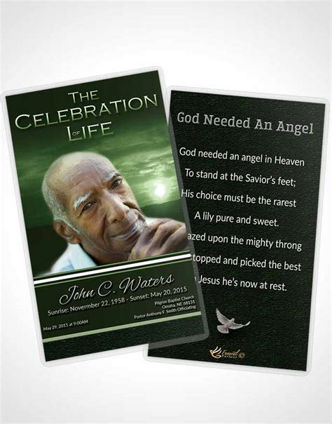 Us Forest Service Card Template by Bifold Order Of Service Obituary Template Brochure Forest