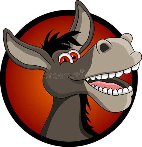 clipart divertenti fumetto divertente della testa dell asino illustrazione di
