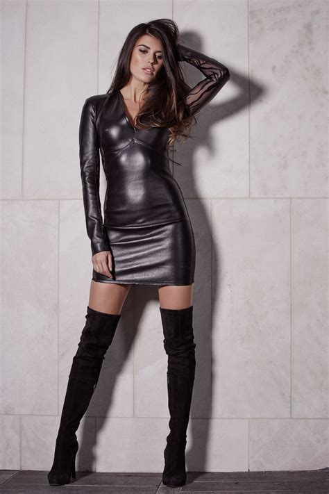 socialite dress leather collection dresses isla cruz