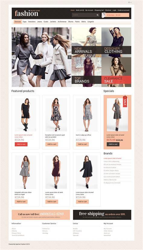 fashion store template your fashion store opencart template 47173