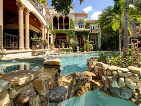 mediterranean pools incredible mediterranean style mansion in florida