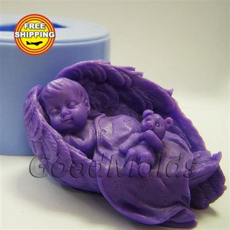 Wings Sabun baby wings 3d soap mold silicone molds mold for soap mold