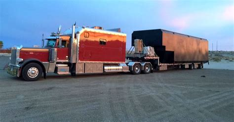 Trucks With Big Sleepers by Peterbilt 389 With Sleeper And Lots Of Chrome