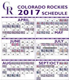 dodgers home schedule colorado rockies 2017 schedule includes season opener