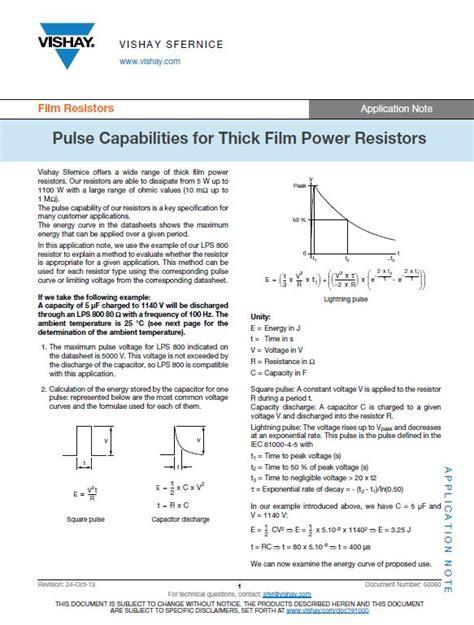power resistor pulse rating power resistor pulse rating 28 images ceramic resistors for anti pulse surge pcf pulse