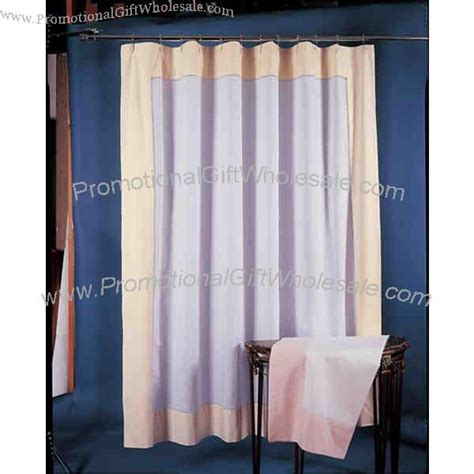 Handmade Shower Curtains - all handmade linen shower curtain with color border made