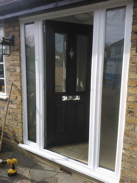 30769 Gray White Two Side stunning ludlow timber composite door finished in