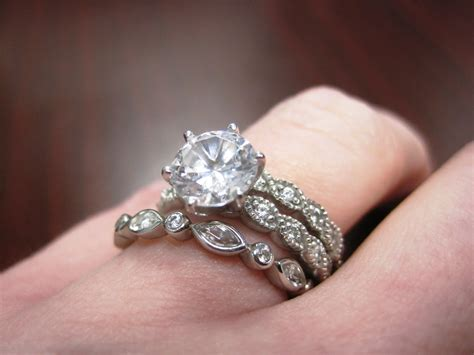 Showing Engagement Ring by Show Me Your Engagement Ring Wedding Band And Eternity