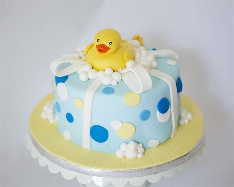 Ducky Baby Shower Decorations by Photo Rubber Duck Babyshower Cake Image